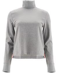 Thom Browne Turtleneck T-shirt - Gray