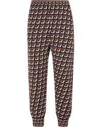 Prada Straight Leg Intarsia-knit Trousers - Multicolour