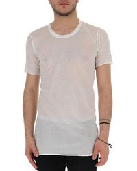 Rick Owens Semi-sheer Long T-shirt - White