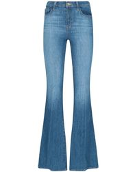 J Brand Valentina High-rise Flared Jeans - Blue