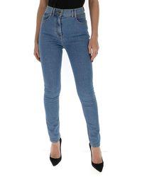 Balmain High Rise Skinny Jeans - Blue