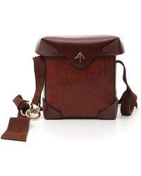 MANU Atelier Mini Pristine Crossbody Bag - Brown