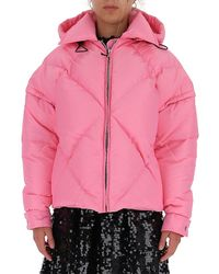 MSGM Quilted Hooded Jacket - Pink