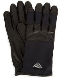 Prada Logo Plaque Gloves - Black
