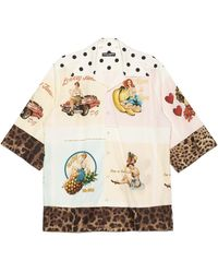 Dolce & Gabbana Pin Up And Leopard Print Shirt - Multicolor