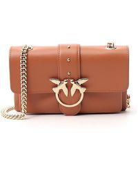 Pinko Love Mini Crossbody Bag - Brown