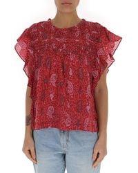 Étoile Isabel Marant Layona Abstract Printed Blouse - Red