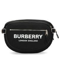 Burberry Logo Zipped Belt Bag - Black