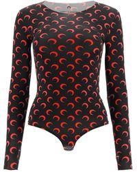 Marine Serre Moon Printed Bodysuit - Multicolour