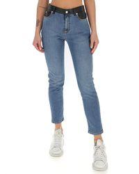 Alexander McQueen Mid Rise Skinny Leg Jeans - Blue