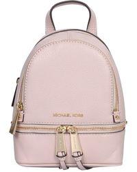 MICHAEL Michael Kors Mini Rhea Hammered Leather Backpack - Pink