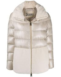 Herno Long-sleeve Down-feather Jacket - Natural