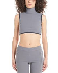 A_COLD_WALL* * High Neck Cropped Top - Grey