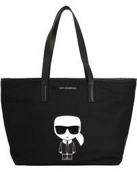 Karl Lagerfeld K/ikonik Tote Bag - Black