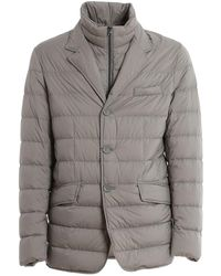 Herno Quilted Down Jacket - Grey