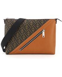 Fendi Ff Paneled Messenger Bag - Multicolor