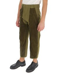 Haider Ackermann Panelled Cropped-leg Trousers - Green