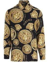 Versace Medusa Print Shirt - Multicolor