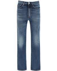Totême Mid-waist Straight Leg Jeans - Blue
