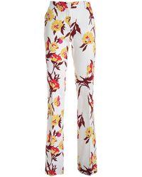 Max Mara Studio Floral Print Trousers - Multicolour