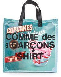 Comme des Garçons Graphic Printed Shopper Bag - Multicolor