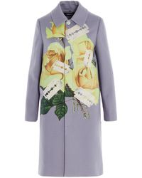 Undercover Floral Printed Coat - Multicolor