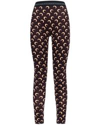 Marine Serre Half Moon Print Leggings - Brown