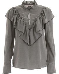 See By Chloé Ruffled Blouse - Gray