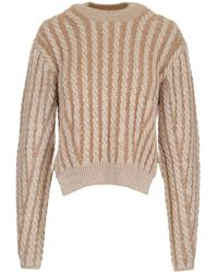 Chloé Cable Knit Jumper - Natural
