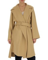 Chloé Belted Wrap Coat - Brown