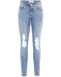 Givenchy Distressed Skinny Jeans - Blue