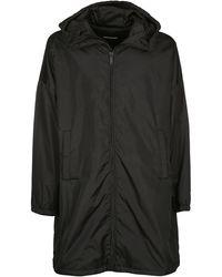 DSquared² Back Logo Hooded Raincoat - Black