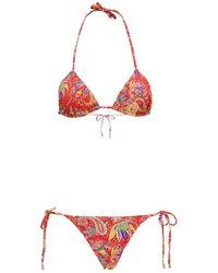 Etro Ibiza Red Bikini With Paisely Print