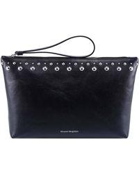Alexander McQueen Studded Clutch Bag - Black