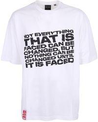 Daily Paper Slogan Print Crewneck T-shirt - White