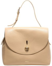 Furla Net Top Handle Handbag - Natural