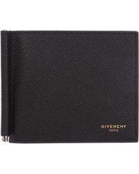 Givenchy Men's Leather Slim Money Clip - Black