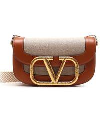 Valentino Garavani Supervee Crossbody Bag - Natural