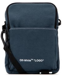 Off-White c/o Virgil Abloh Logo Messenger Bag - Blue