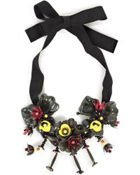 P.A.R.O.S.H. - Floral Tie Necklace - Lyst