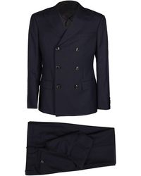 Giorgio Armani Double-breasted Suite - Blue