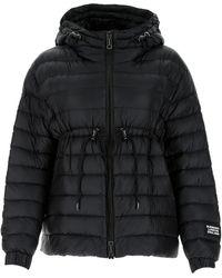 Burberry Drawstring Hooded Puffer Jacket - Black
