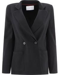 Harris Wharf London Double Breasted Blazer - Black