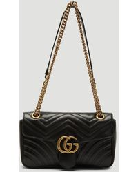 Gucci GG Marmont Velvet Mini Shoulder Bag - Black