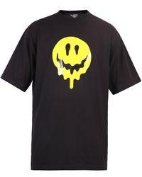 Balenciaga Drip Peace Oversized T-shirt - Black