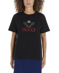Gucci - Logo Tennis T-shirt - Lyst