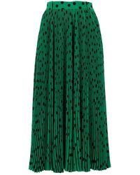 Balenciaga Pleated Midi Skirt - Green