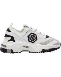 Philipp Plein Predator Lace-up Trainers - White