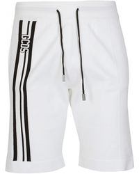 Gcds Logo Stripe Track Shorts - White