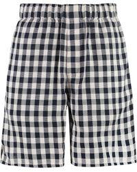 AMI Checked Print Shorts - Multicolour